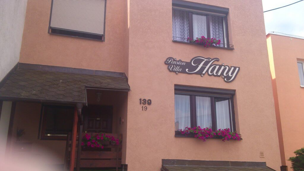 Am Ende des erstes Tages von Sokolov nach Mariánské Lázně übernachteten wir in der Pension Villa Hany,  Ladova 139/19, 353 01 Mariánské Lázně, Tschechien