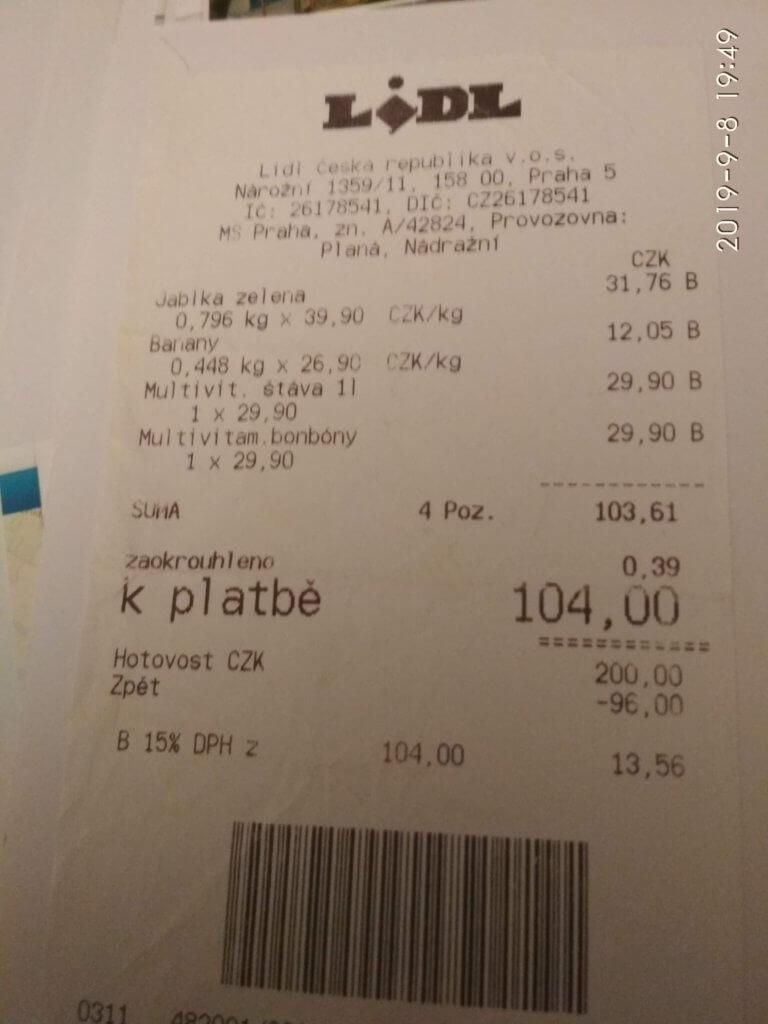 11-06-2014 Einkauf bei Lidl in Tschechien (c) radelei.de