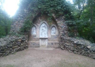 Denkmal im Schlosspark Lützschena während der Abendrunde 1