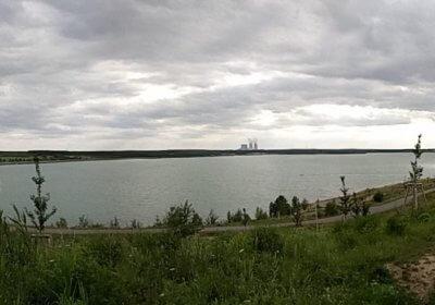 Panorama am Störmthaler See bei der Abendrunde 6