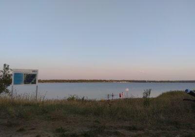 Blick auf den Schalditzer See (von der Wolteritzer Höhe) bei der Abendrunde 4