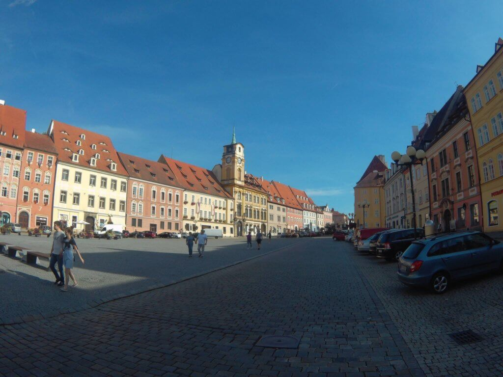 Der Marktplatz in Cheb (c) radelei.de