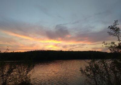 Kulkwitzer See am Abend